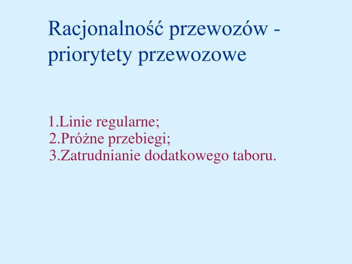Racjonalność przewozów -