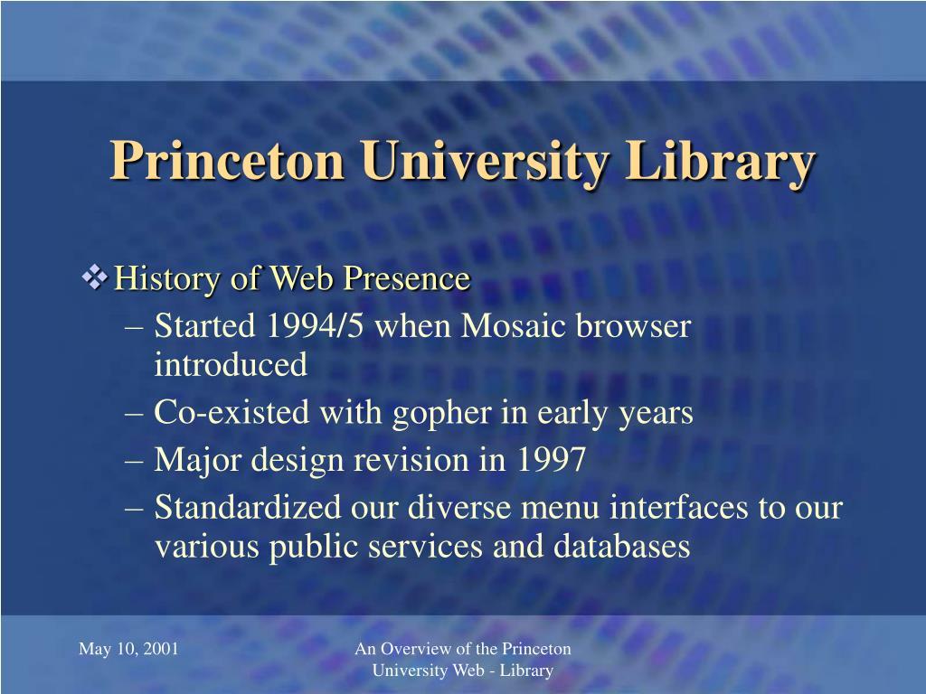 princeton university library l.