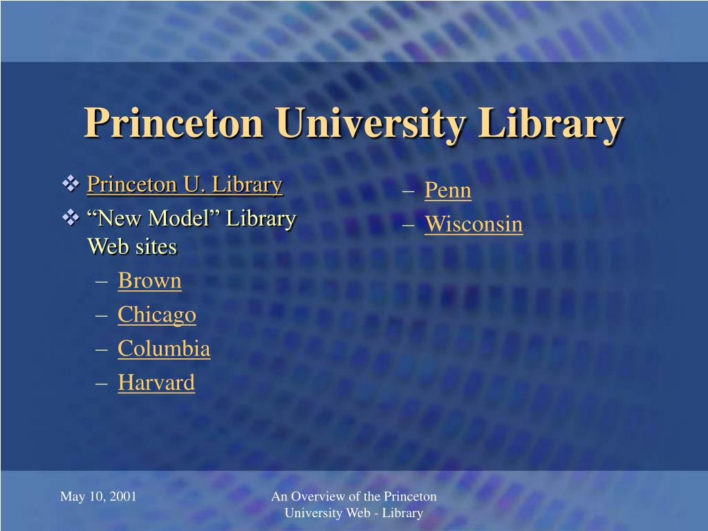 Princeton U. Library