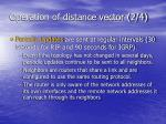 operation of distance vector 2 4