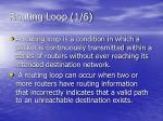 routing loop 1 6
