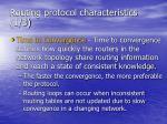 routing protocol characteristics 1 3