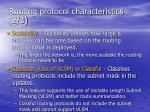 routing protocol characteristics 2 3