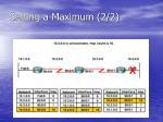 setting a maximum 2 2