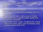 split horizon with poison reverse 2 5