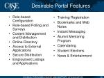desirable portal features