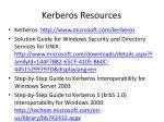 kerberos resources1