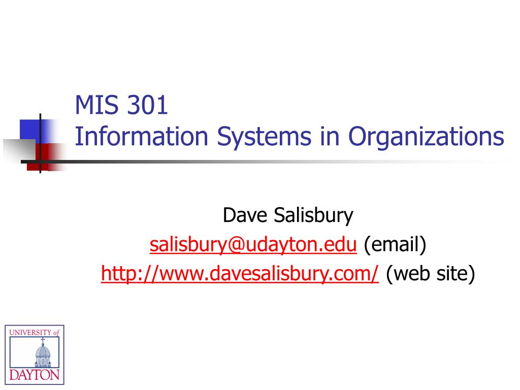 mis 301 information systems in organizations l.