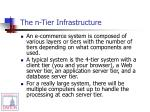 the n tier infrastructure