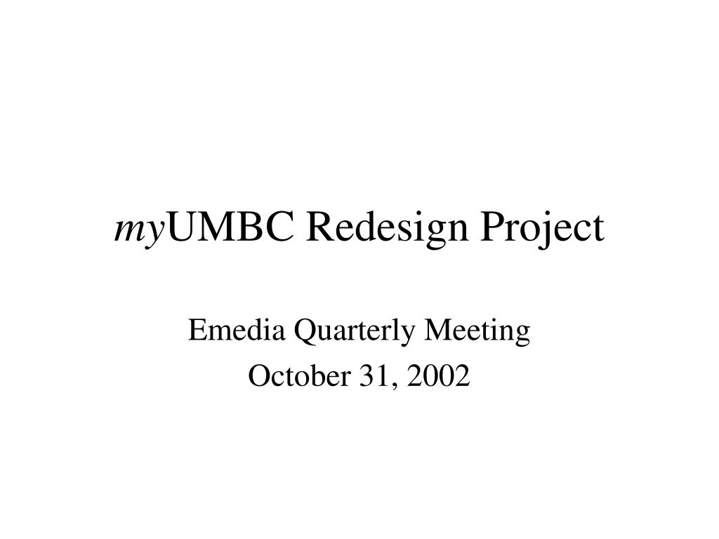 my umbc redesign project l.