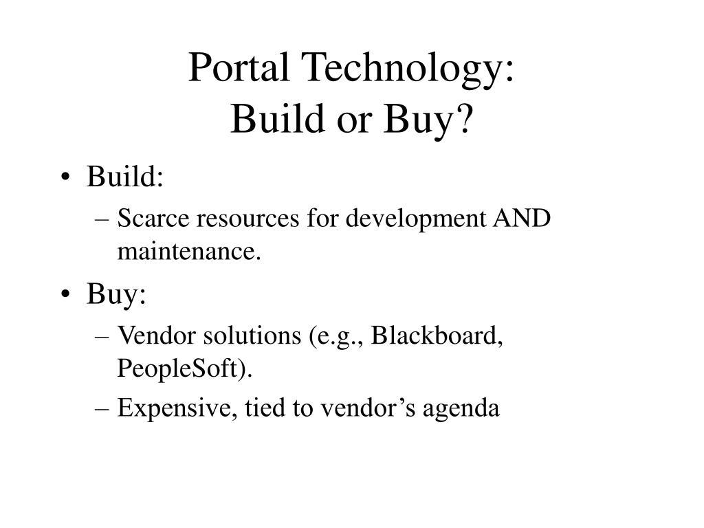 Portal Technology: