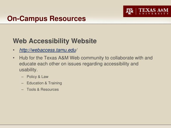 On campus resources3
