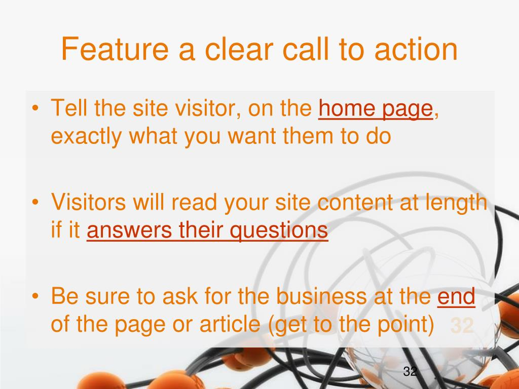 Feature a clear call to action