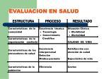 evaluacion en salud