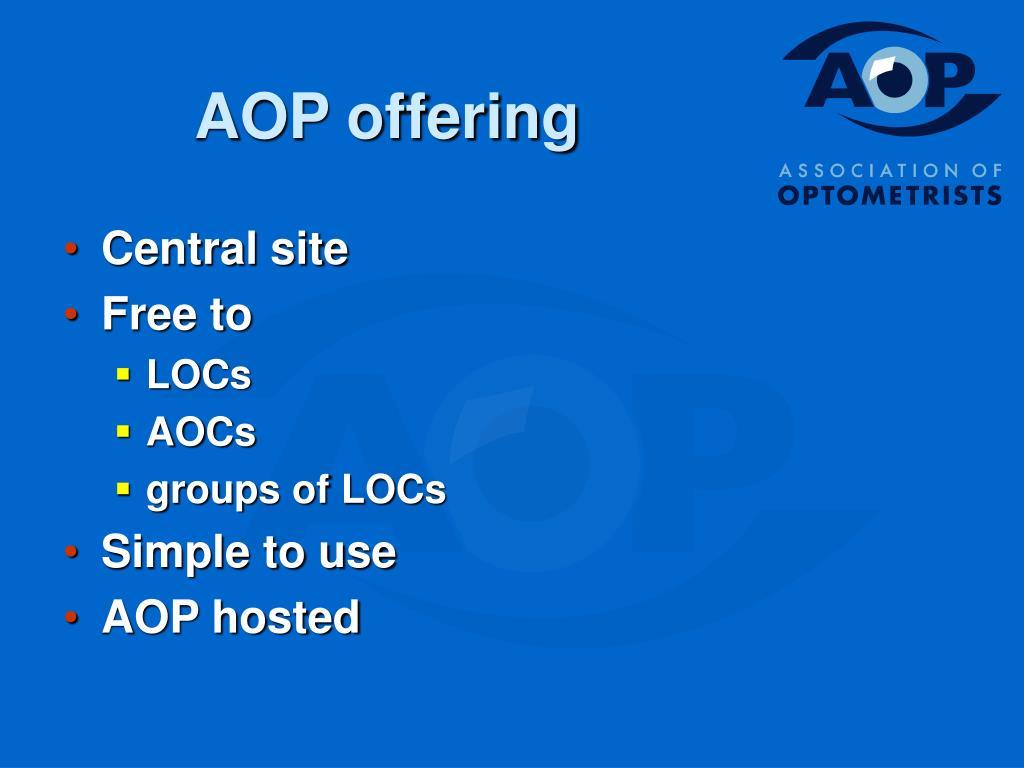 AOP offering
