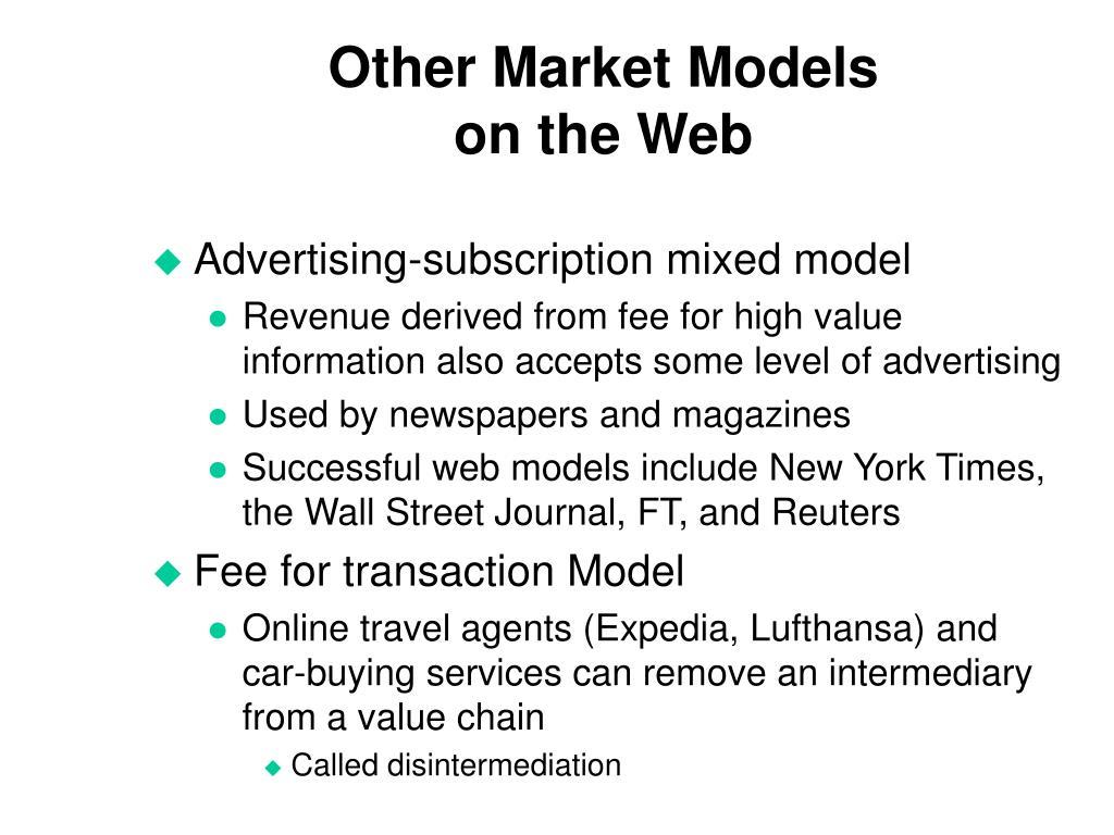 Other Market Models