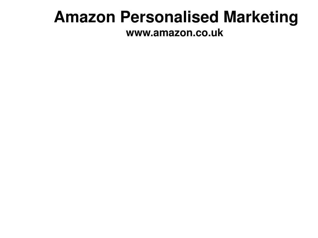 Amazon Personalised Marketing