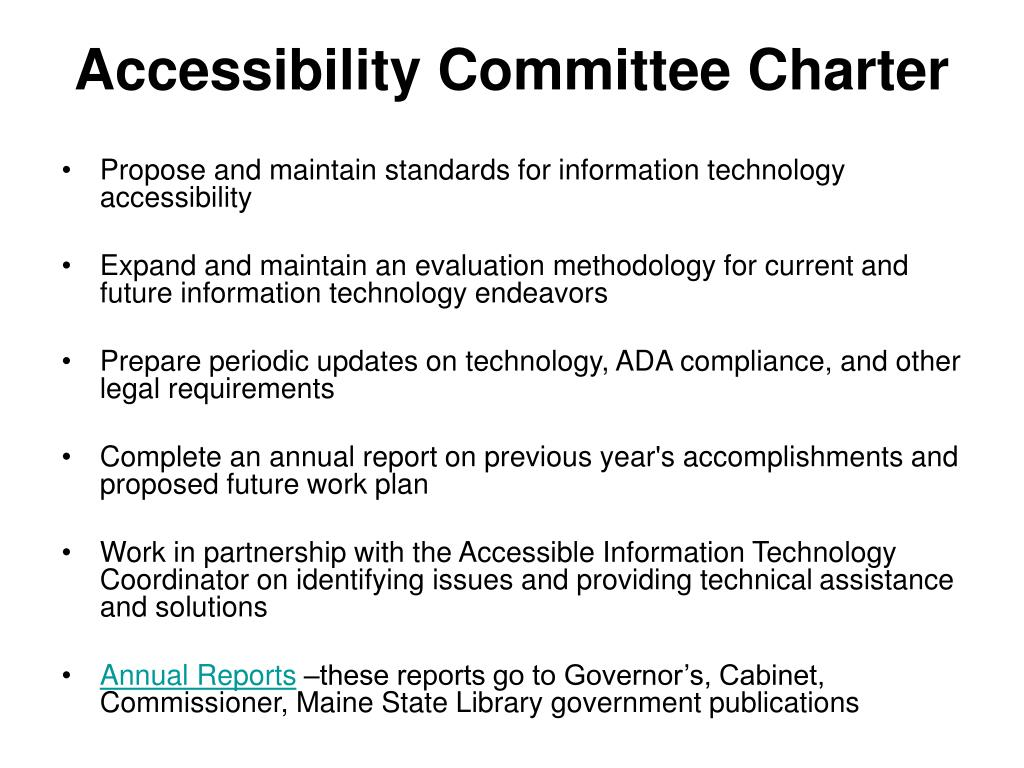 Accessibility Committee Charter