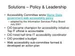 solutions policy leadership