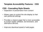template accessibility features css
