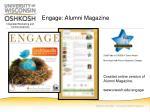 engage alumni magazine
