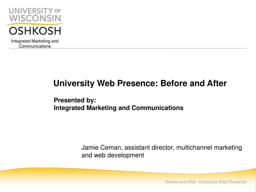 university web presence before and after l.