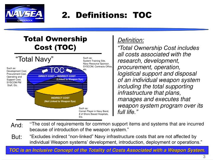 an essay on total ownership cost toc Page 1 of 5 make a case for sustainability: apply total cost of ownership authored by cmaa national sustainability committee members: jen creighton, leed ap, and.