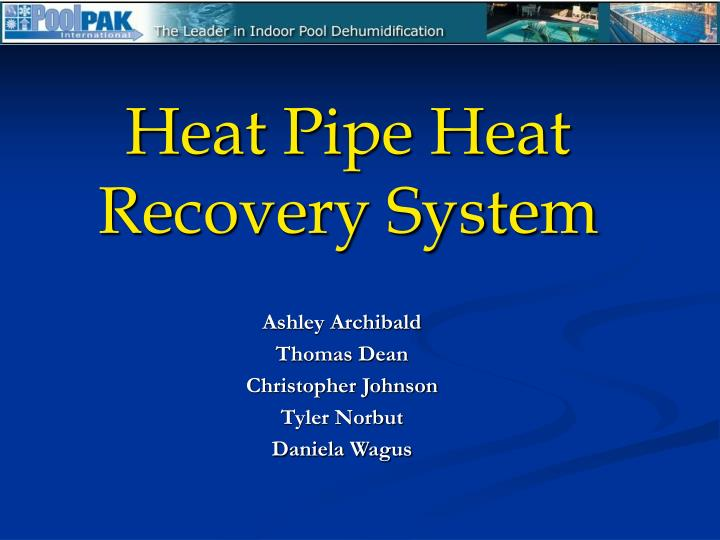 heat pipe heat recovery system n.
