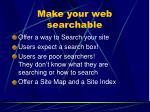 make your web searchable