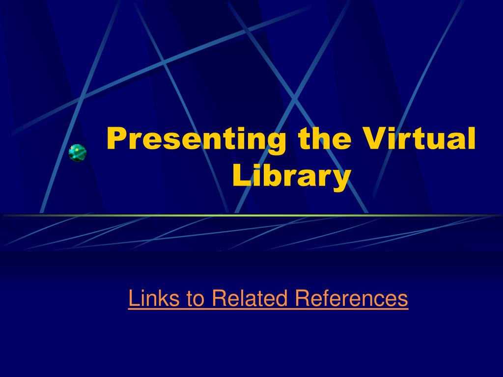 presenting the virtual library l.