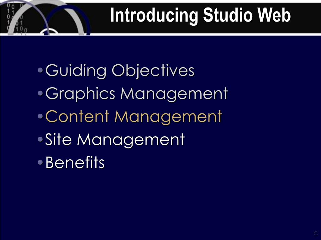 Introducing Studio Web