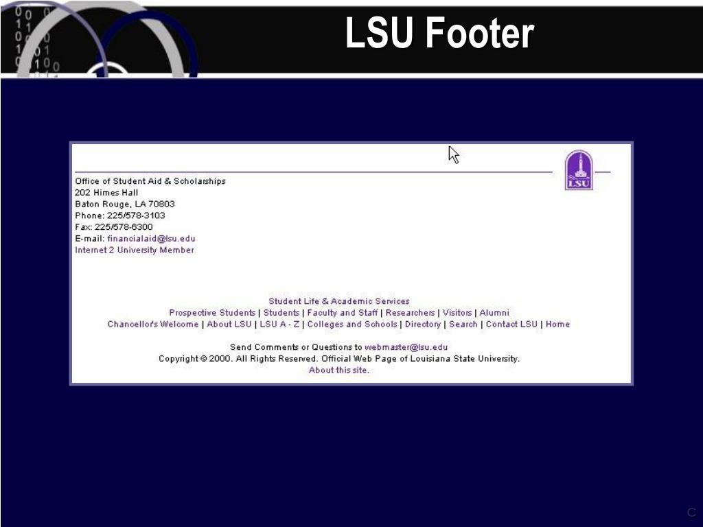 LSU Footer