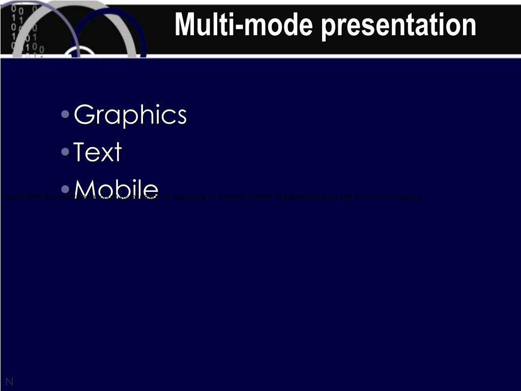 Multi-mode presentation