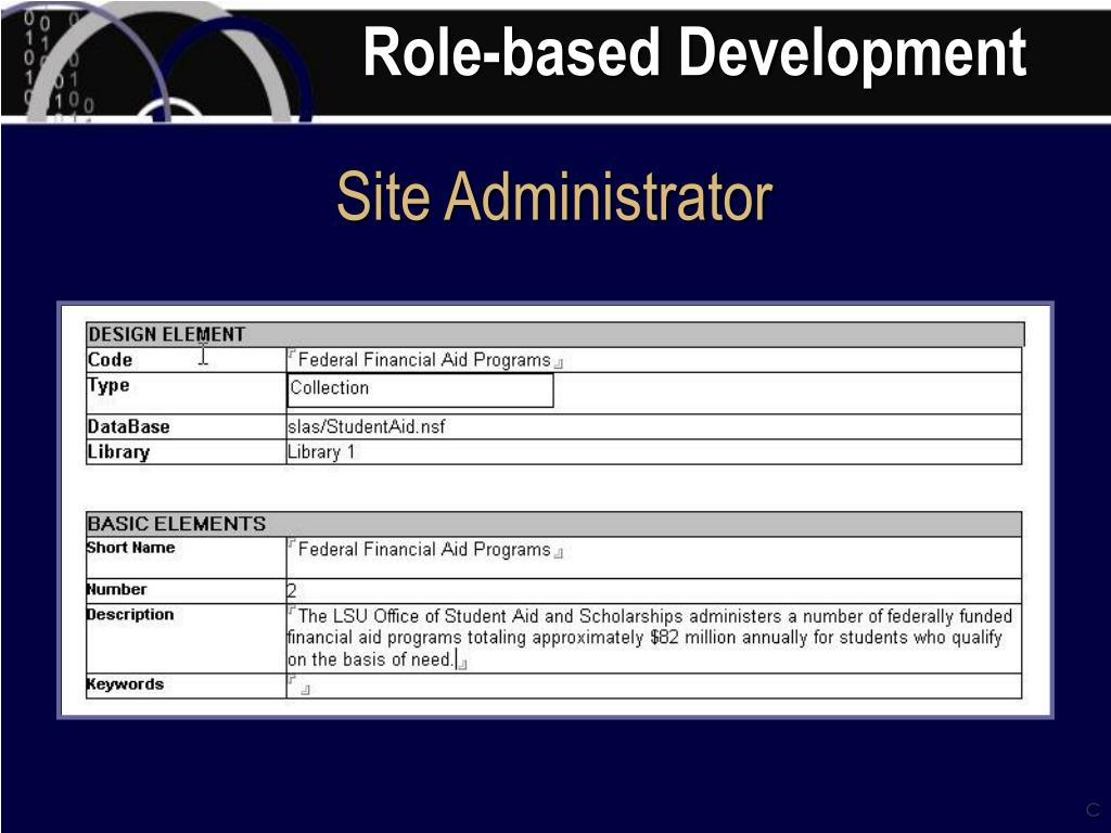 Role-based Development