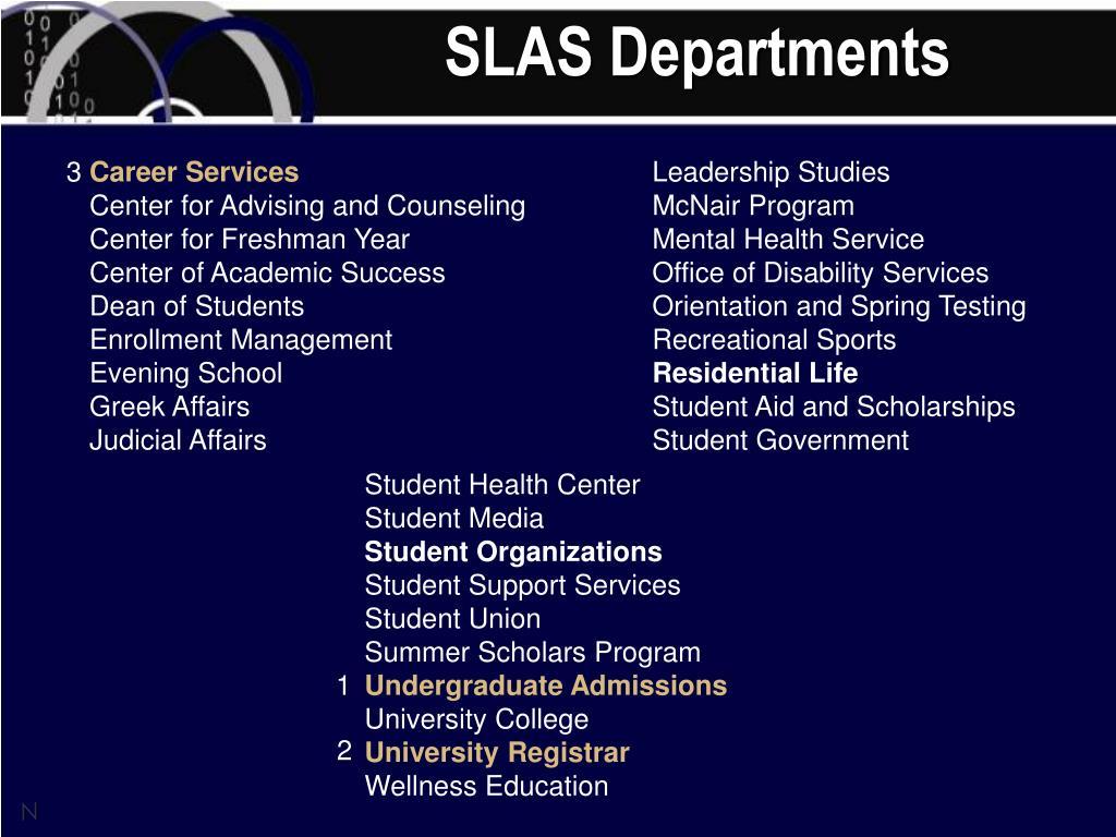 SLAS Departments