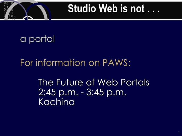 Studio web is not