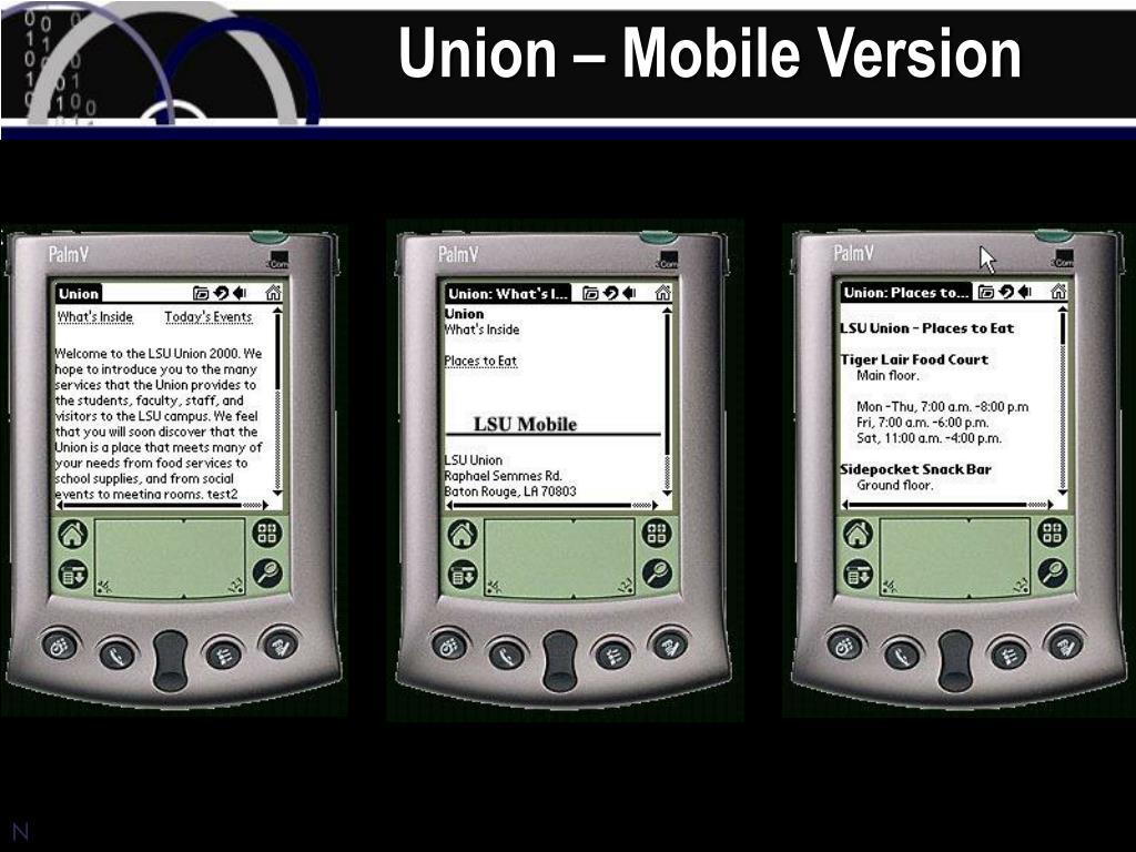 Union – Mobile Version