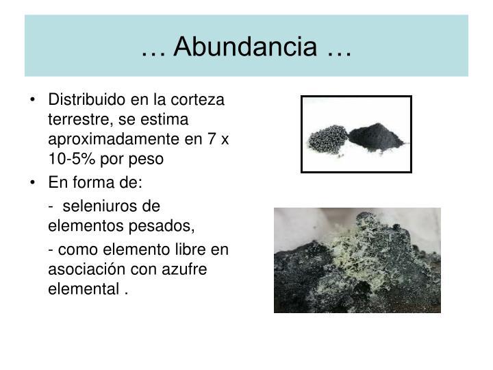 … Abundancia …
