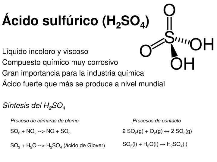 Ácido sulfúrico (H