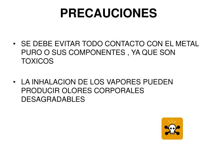 PRECAUCIONES