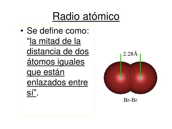 Radio atómico