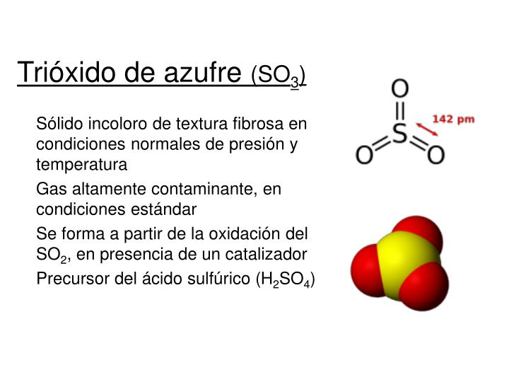 Trióxido de azufre