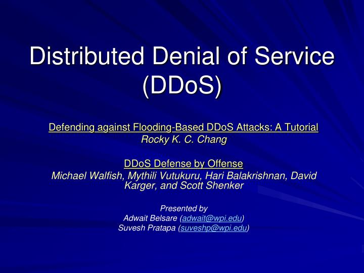 ddos attack thesis