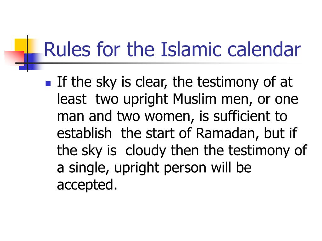 PPT - How Does the Islamic Calendar Really Work in Different