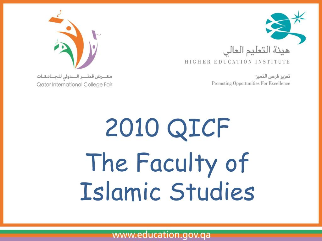 2010 qicf the faculty of islamic studies l.