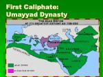 first caliphate umayyad dynasty