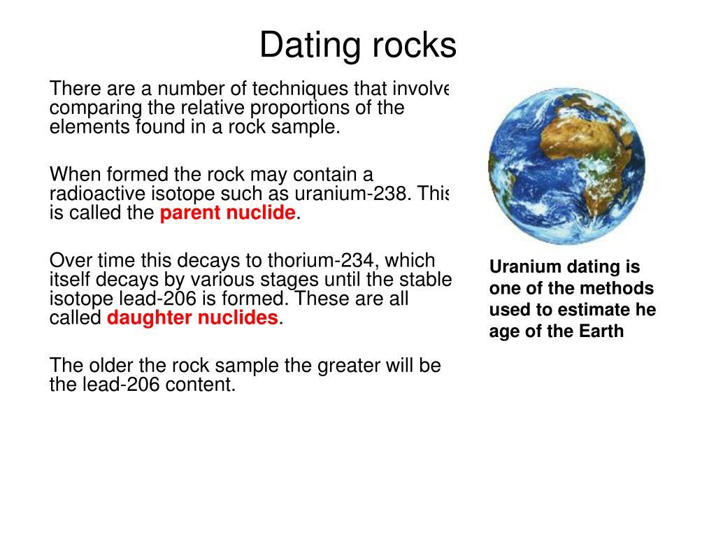 Dating Rocks GCSE