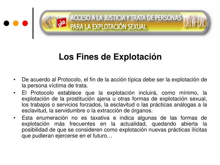 Los Fines de Explotación