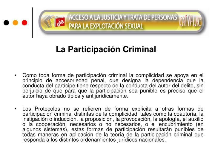 La Participación Criminal