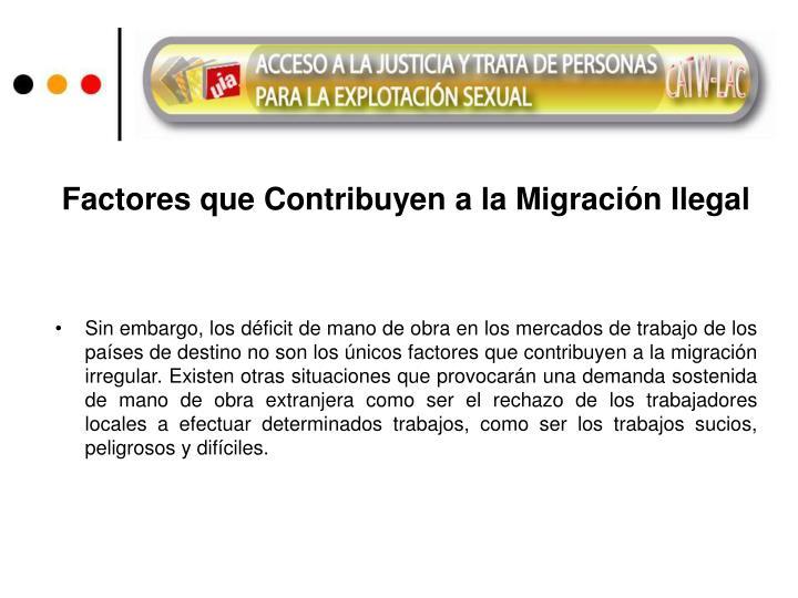 Factores que Contribuyen a la Migración Ilegal